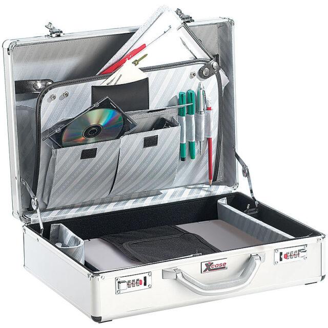"""Laptop Koffer: Aluminium Notebook-Koffer """"Design Case"""" bis 17"""" (Pilotenkoffer)"""