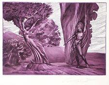 """Ernst Fuchs """"Daphne und Apoll"""" Originalradierung, handsigniert"""