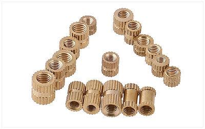 100pcs Ultrasonic brass inserts knurling insert M1.4*2.3*2.5