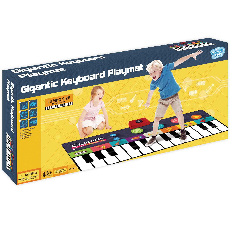 Teclado de piano para niños musical electrónico Rainbow Play Mat Juguete Música Dance Party