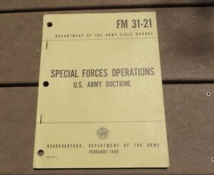 Vietnam FM 31-21 Special Forces Operations Book US Army Military Doctrine