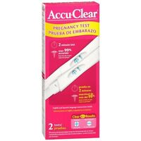 Accu Clear Early Pregnancy Test - 2 Ea