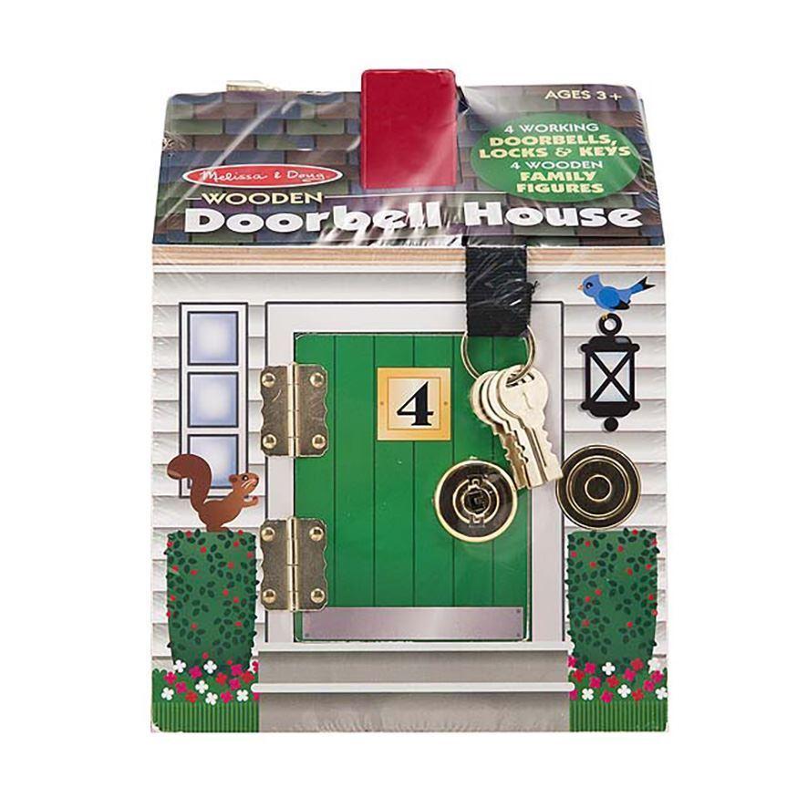 Melissa & Doug Holz Türklingel Haus With 4 Schlüssel für 3 Jahre+