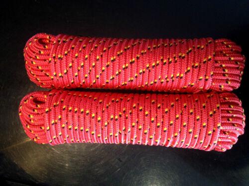Polypropylen Seil 4-16 mm,30m Bootsleine,Schnur,Rot Ankerseil Sicherheitsseil