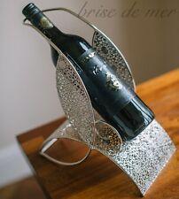 Unica Botella de vino de cocina estante para rack Cromo Cadena Metal Regalo De Bodas