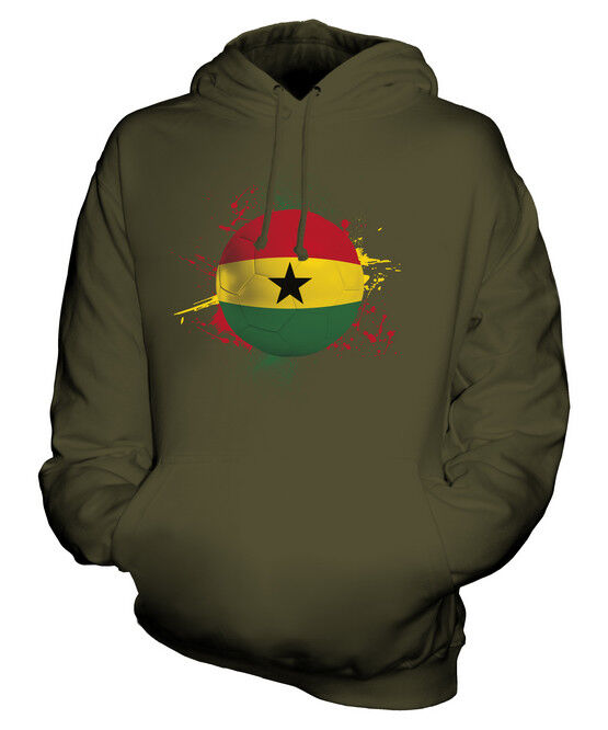 GHANA FOOTBALL UNISEX HOODIE TOP GIFT WORLD CUP SPORT