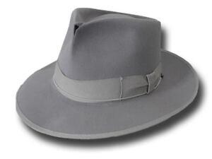 Caricamento dell immagine in corso Fedora-Johnny-Depp-CAPPELLO-qualita-TOP- antiqued-grigio- ebee1be72fa6