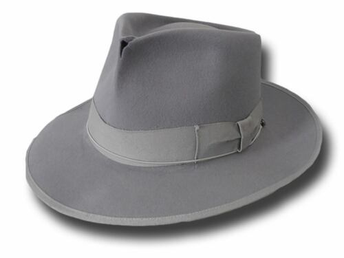 Cappello Fedora Johnny Depp Top Quality anticato grigio perla