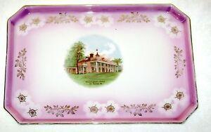 Antique-Porcelain-Dresser-Vanity-Tray-Mt-Vernon-Souvenir-Germany-Mark
