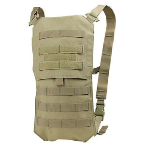 NEW-Condor-HCB3-003-MOLLE-Oasis-Hydration-Carrier-Pack-w-2-5L-Bladder-TAN