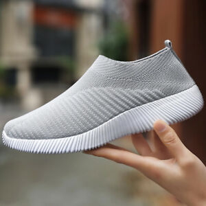 Women-039-s-Walking-Tennis-Shoes-Lightweight-Athletic-Casual-Gym-Slip-on-Sneakers