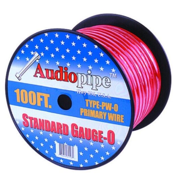 Nippon Power 0 Gauge 25 Foot Electrical Primary Wire Vehicle Primary Wire Red
