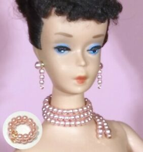 Dreamz-PINK-PEARL-NECKLACE-Enchanted-Evening-Vintage-Repro-for-Barbie-Doll