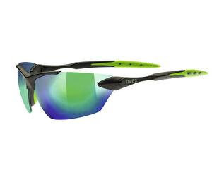 NEU-UVEX-sportstyle-203-Sonnen-Brille-Schwarz-Gruen-Fahrrad-Sport-UVP-39-95-EUR