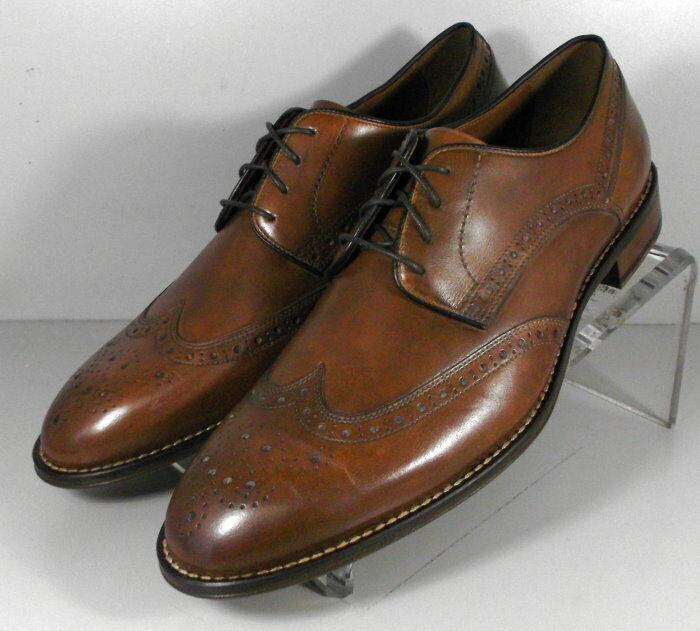 59NP1113192 SP50 Men's Shoes Size 9 M Brown Leather Lace Up Johnston & Murphy