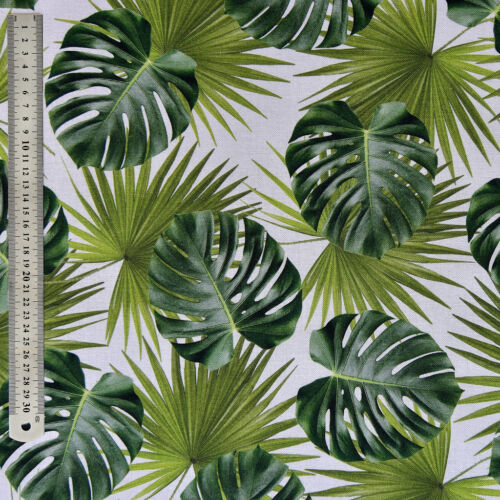 Upholstery /& 100/% Cotton Tropical Palm Leaves Fabric Quality Digital Print