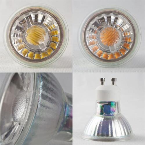3W GU10 5W COB Highpower LEDs LED Glas Leuchtmittel MR16 Birne Strahler