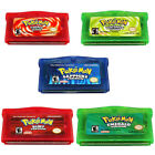 1/3/5PCS Pokemon Game cartridge Emerald Ruby US Version For GBM/GBA SP/NDS/NDSL
