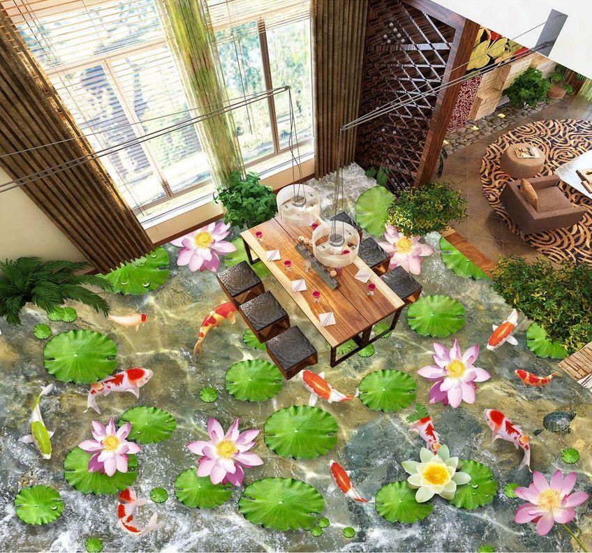 3D Bel Pond 8 Fond d'écran étage Peint en Autocollant Autocollant Autocollant Murale Plafond Chambre Art | Une Forte Résistance à Chaleur Et Résistant  ad0340