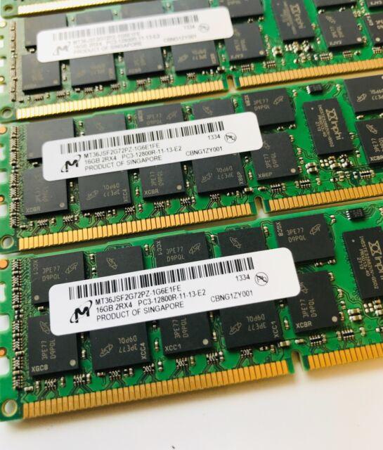 128GB (8x16GB) PC3-12800R DDR3 1600MHz ECC Reg Server Memory RAM Upgrade Kit