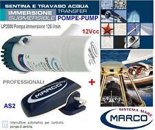 MARCO UP2000 POMPA SENTINA IMMERSIONE 12V 126L/min+INTERRUTTORE AUTOMATICO BARCA