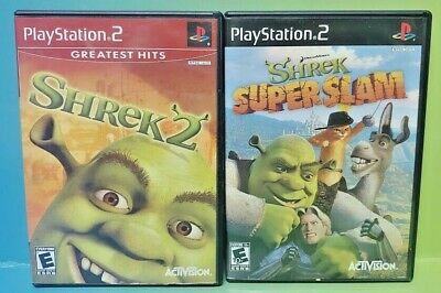 Shrek 2 Shrek Super Slam Disney Ps2 Playstation 2 Game Lot Works Complete Ebay