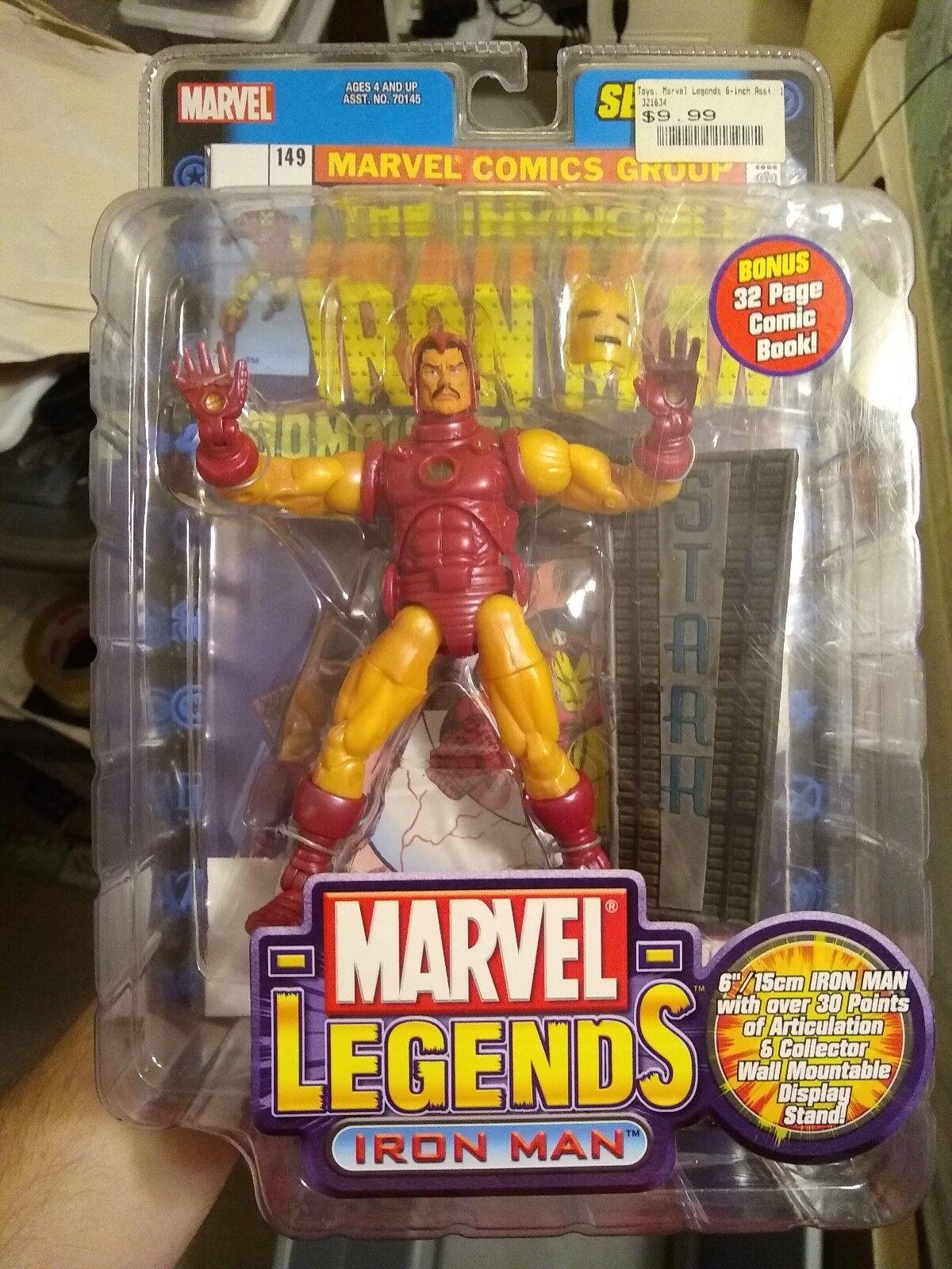 Marvel - legenden  iron man  gelben anzug 7  action - figur w   comic - serie ich toybiz