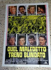 Y4 MANIFESTO ORIGINALE 4F QUEL MALEDETTO TRENO BLINDATO ENZO G. CASTELLARI FRED