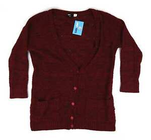 Preworn-Red-Womens-Cardigan-Size-S-Regular