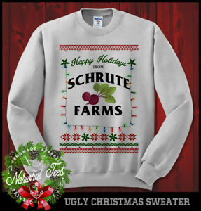 Schrute Farms Happy Holidays The Office Dwight Sweatshirt Ugly