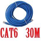 Ethernet Network Cable 30M 90FT RJ45 CAT6 LAN 10M 100M 1000M Gigabyte Free Post