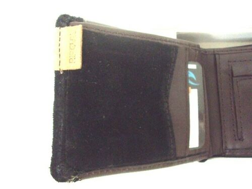 NEW RIP CURL CRAFTER SLIM LEATHER BIFOLD WALLET BLACK 512 or GREEN