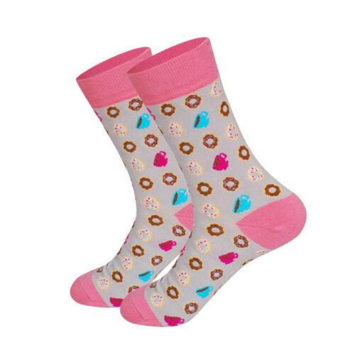 Avocado Burger Funky Food Series Couple Happy Socks Men/&Women Creative Socks D6