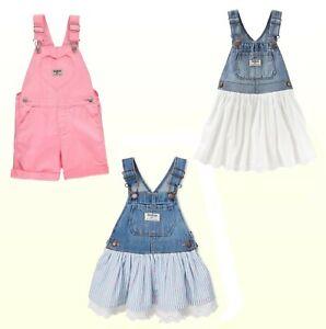 Shortalls-Skirtalls-Girls-Oshkosh-B-039-gosh-Baby-Toddler-Denim-Twill-1Pc-New