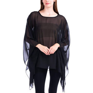 Womens New Satin Touch// Chiffon Print Kaftan Tunic Top 3//4 Sleeve Ladies