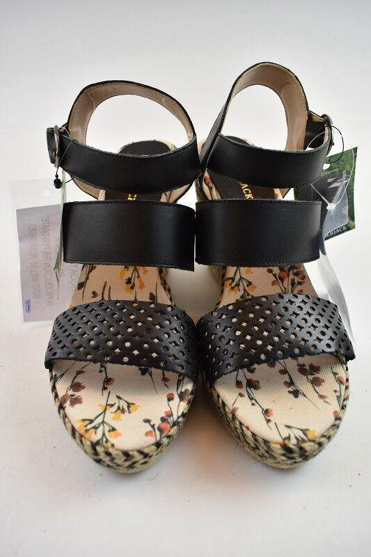 Lumberjack señora sandalias sandalias sandalias de cuero negro en la talla 37  servicio de primera clase