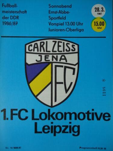 Programm 1986//87 FC Carl Zeiss Jena Lok Leipzig