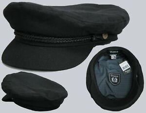 Brixton-Schiffermuetze-Flatcap-Schirmmuetze-Fiddler-Cap-Black-schwarz-Groessen-XS-L