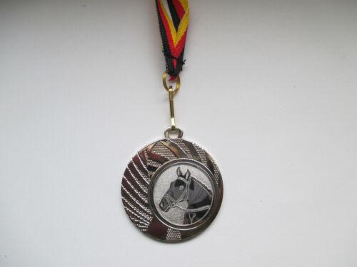 Reiten Pferde Pokal Kinder Medaillen 3er Set mit Deutschland-Bändern Turnier Pokale & Preise
