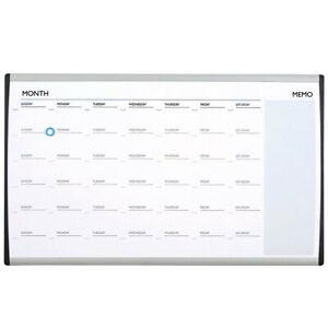 Quartet 76x46cm ARC Cubicle Magnetic Whiteboard Weekly Planner Calendar w/ Pen