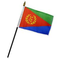 Eritrea 4x6 Flag Desk Table Stick