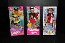 Lot 3 Barbie Dolls Disney Fun 1992 & 1997 Disney Favorites 2000 Park Exclusive