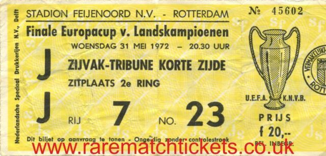 reproduction INTERNAZIONALE EUROPEAN CUP/CHAMPIONS LGE SUPERCUP CWC FINAL TICKET