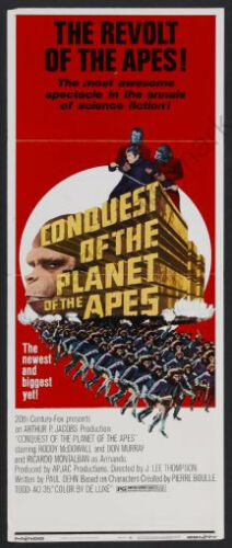 Conquest Of The Planet Of The Apes Movie Poster Insert 14x36 Replica