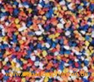 15 kg de gravier de couleur multicolore, aquarium, terrarium, décoration