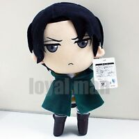 """12"""" Levi Plush Doll New Attack On Titan Rivaille Soft stuffed Toy Cool grey eyes"""