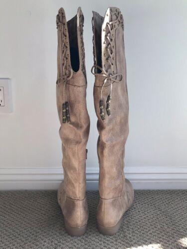 tagliati stile donna Stivaletti 6 Monroe 5 non al Style Nib Boho ginocchio tqwF8a