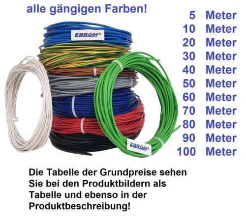 Aderleitung Toron PVC Câble h07v-k 2,5 mmâ² souple ou h07v-u 2,5 mmâ² rigide