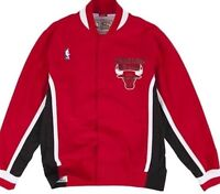 1992-93 Authentic Chicago Bulls Mitchell And Ness Red Warm Up Jacket