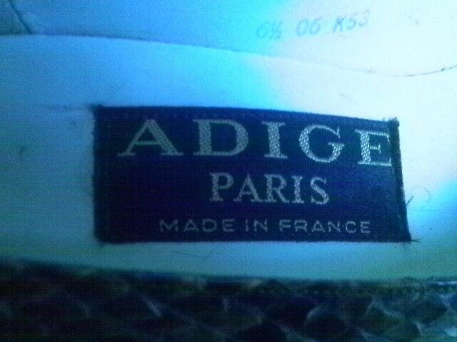 ADIGE PARIS PARIS PARIS FRANCE PYTHON SNAKE schuhe LEATHER SOLE 6.5 M 4db964